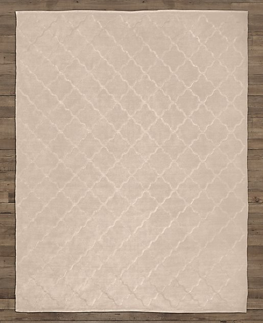 Merle Embroidered Chenille Rug