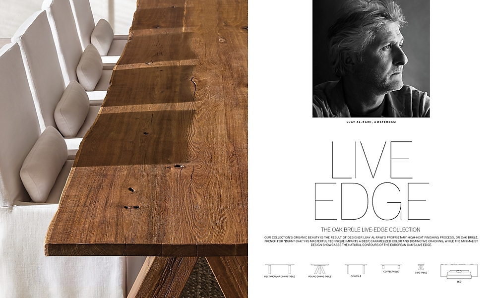 shop Luay Live Edge Rectangular Dining Artisan Breaker