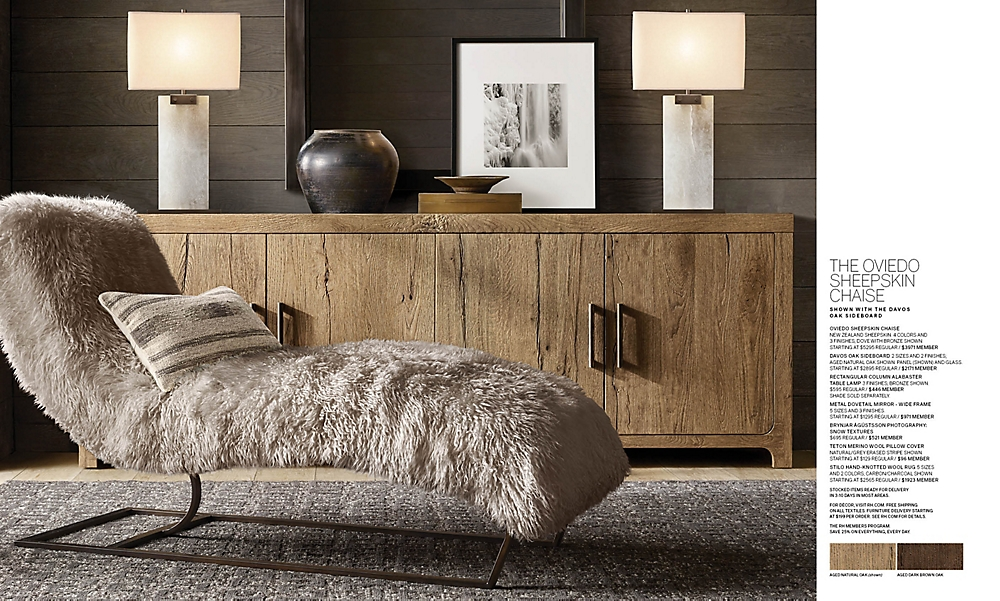 shop Oviedo Sheepkin Chaise