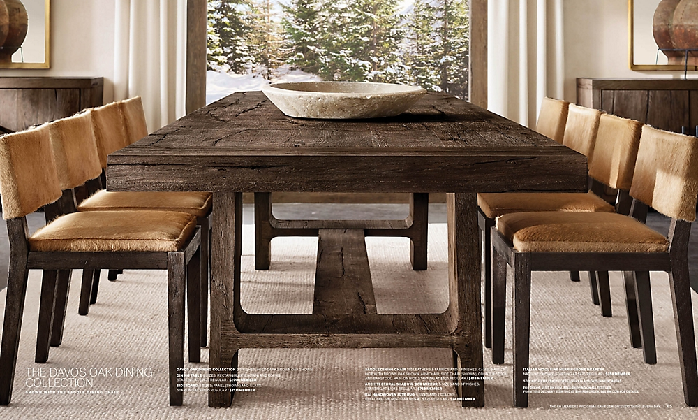 shop Davos Rectangular Dining Table - Brown Oak