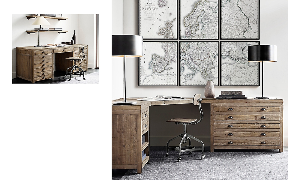 Shop Printmaker's Modular Desk