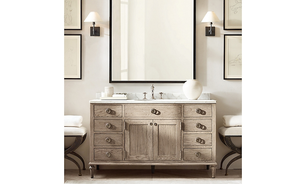 shop Maison Grey Oak Wood Bath