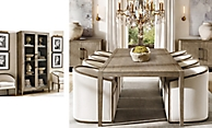 shop French Contemporary Grey Dining