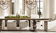 shop Brown Salvaged Trestle Rect Dining