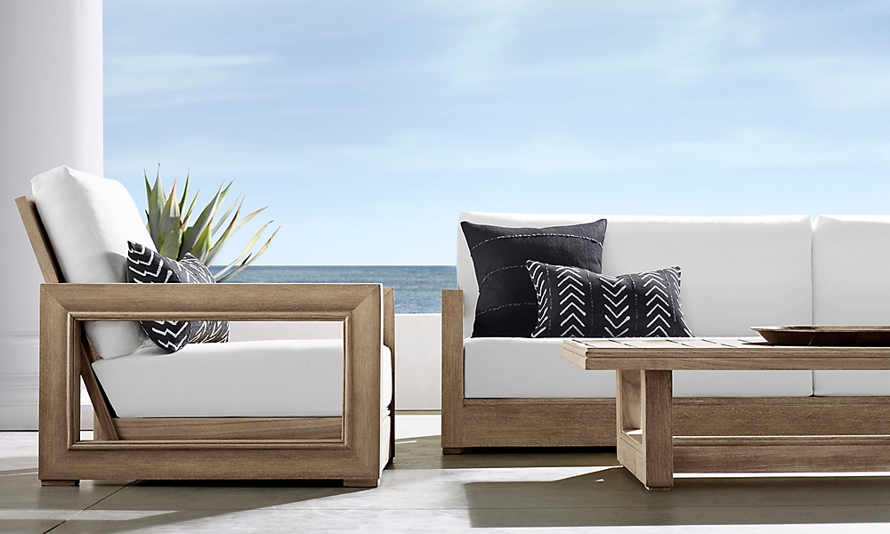 shop Costa Weathered Teak Low Seating
