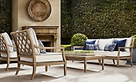 shop Loire Weathered Teak Low Seating