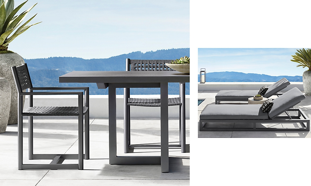 shop Aviara Metal Dining & Chaise