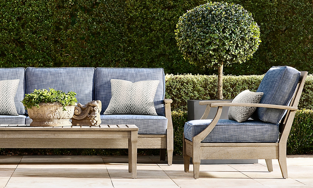 shop Santa Monica Weathered Teak Low Seating
