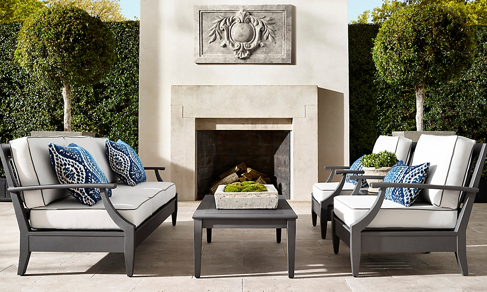 shop Santa Monica Slate Metal Low Seating