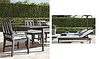 shop Santa Monica Slate Metal Dining & Chaise
