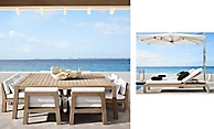 shop Bonaire Weathered Teak Dining and Chaise