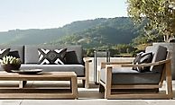 shop Sebastian Weathered Teak Low Seating