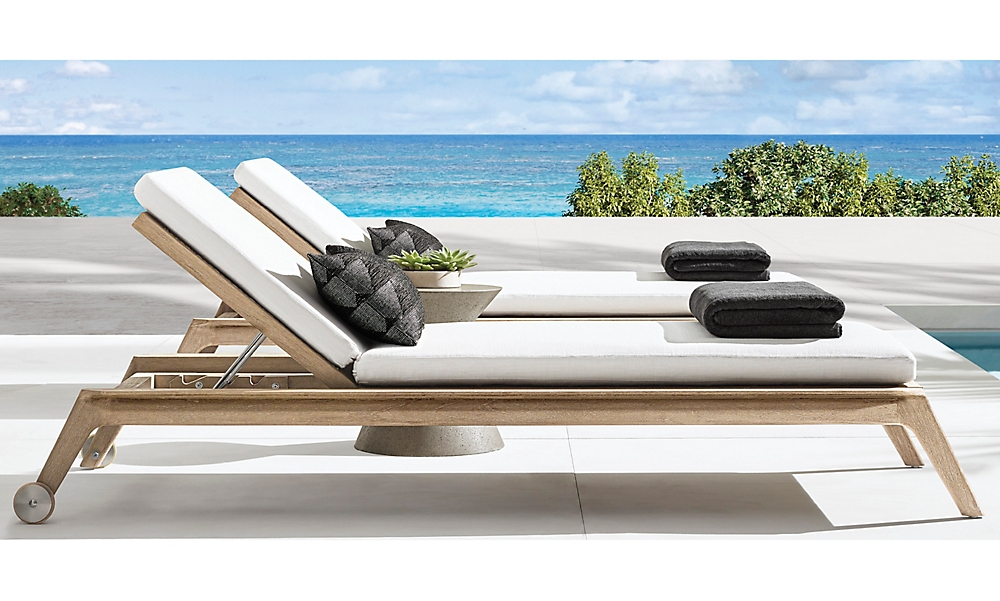 shop Isla Weathered Teak Chaise