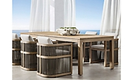 shop Como Weathered Teak Dining