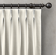 Custom Perennials® Performance Canvas 2-Fold French-Pleat Drapery<br><b><small><em>All Colors On Sale</em></small></b>