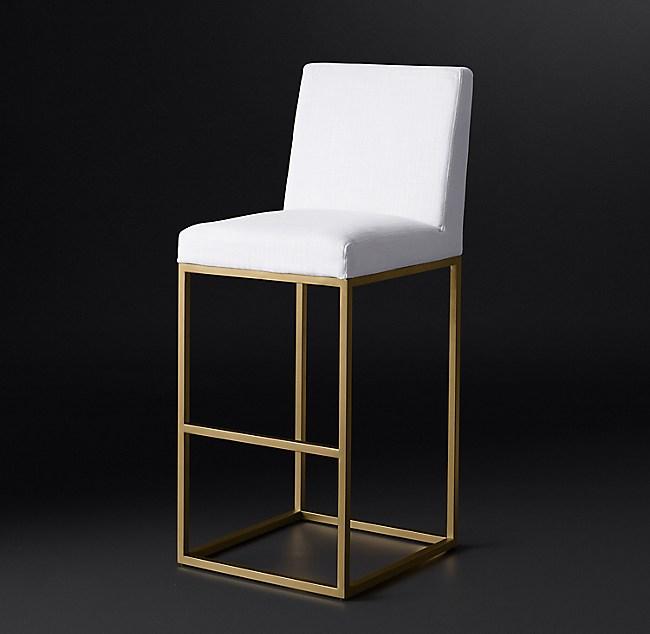 emery armless fabric stool