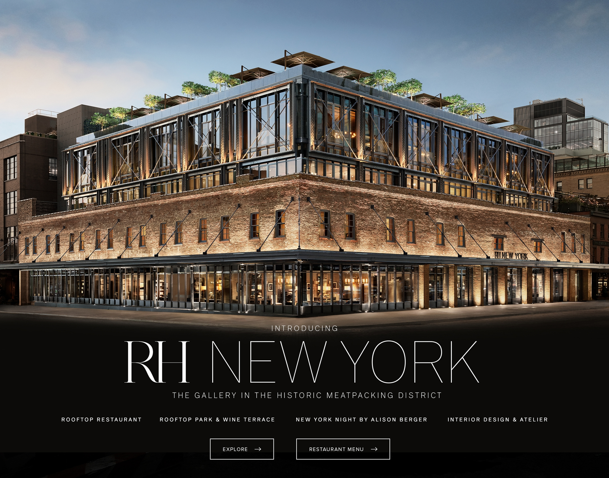 RH New York - The Gallery in the Historic Meatpacking District