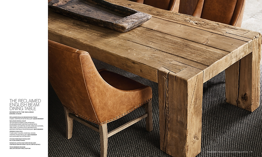 shop Reclaimed English Beam Rectangular Dining Table