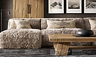 shop Yeti Sheepskin Sectional - Dove