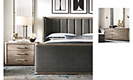 Shop Aston Upholstered Shelter Bed with Footboard