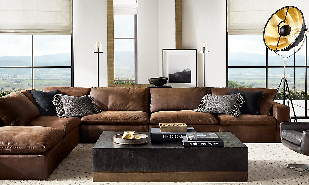 Shop Cloud Modular Leather Sectional