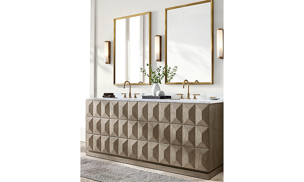 Shop Geometric Double Vanity Sink
