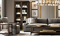 shop French Contemporary Brown Living