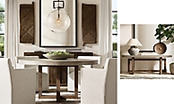 shop Heston Round Dining & Console Smerge