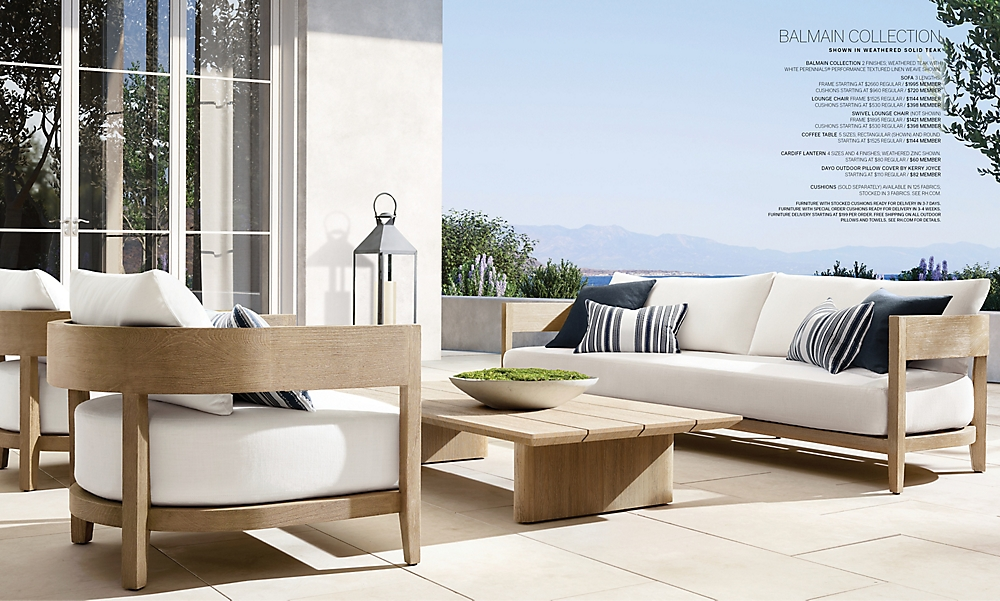 shop Balmain Weathered Teak Outdoor Low Seating