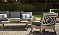 shop Leagrave Weathered Teak Low Seating