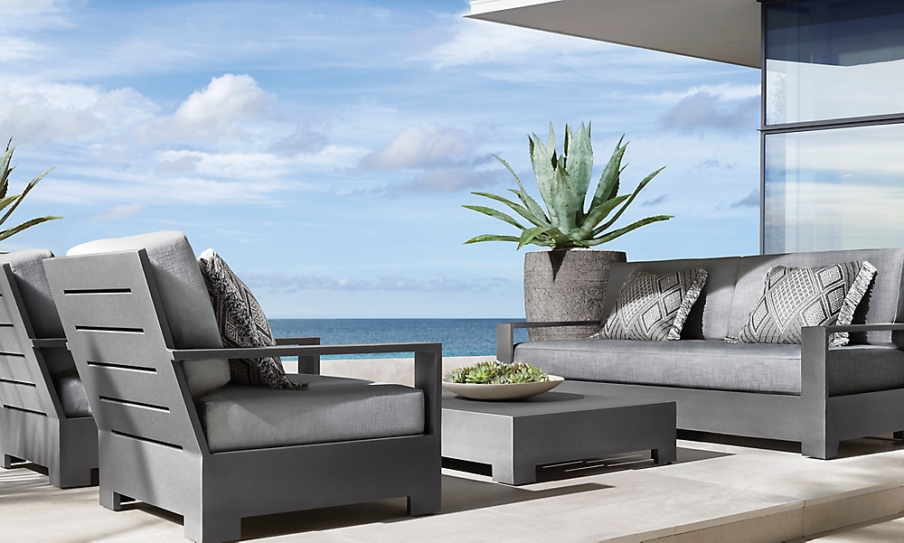 shop Belvedere Slate Metal Low Seating