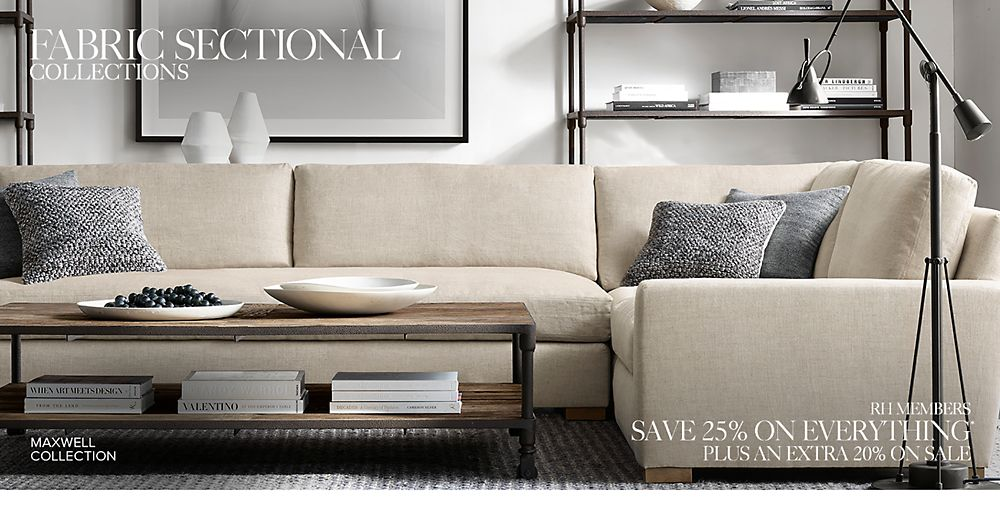 Shop Our Fabric Sectional Collections