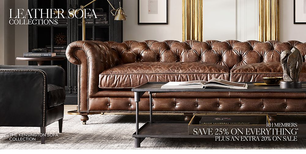Shop Our Leather Sofa Collections