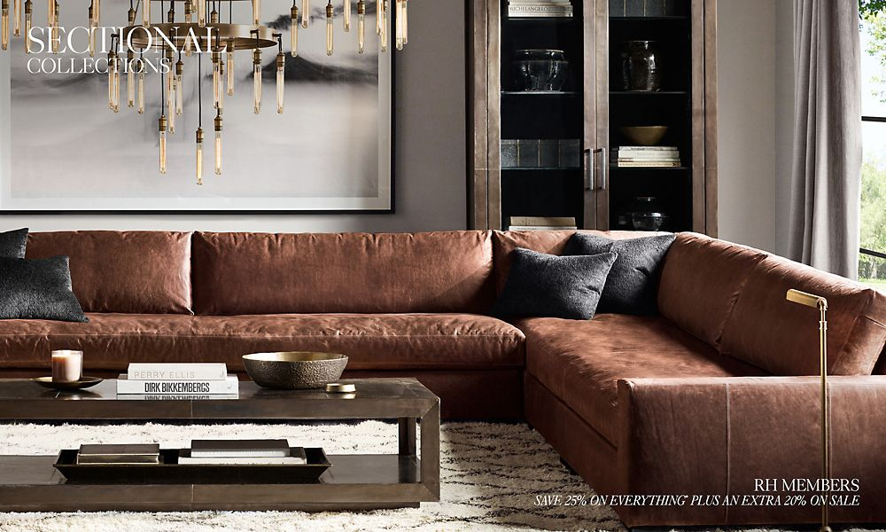 Shop Leather Sectional Collections