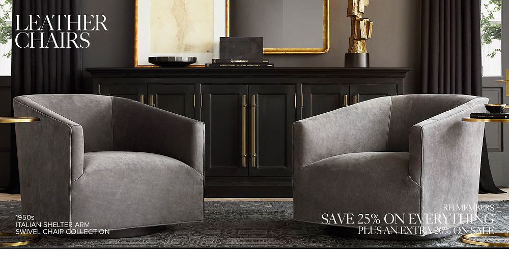 Shop Our Leather Chair Collections