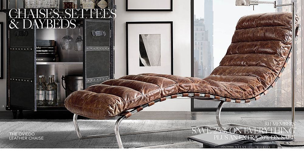 Shop Leather Chaises