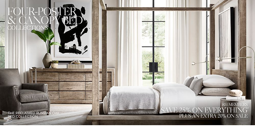 Shop 4-poster and canopy beds