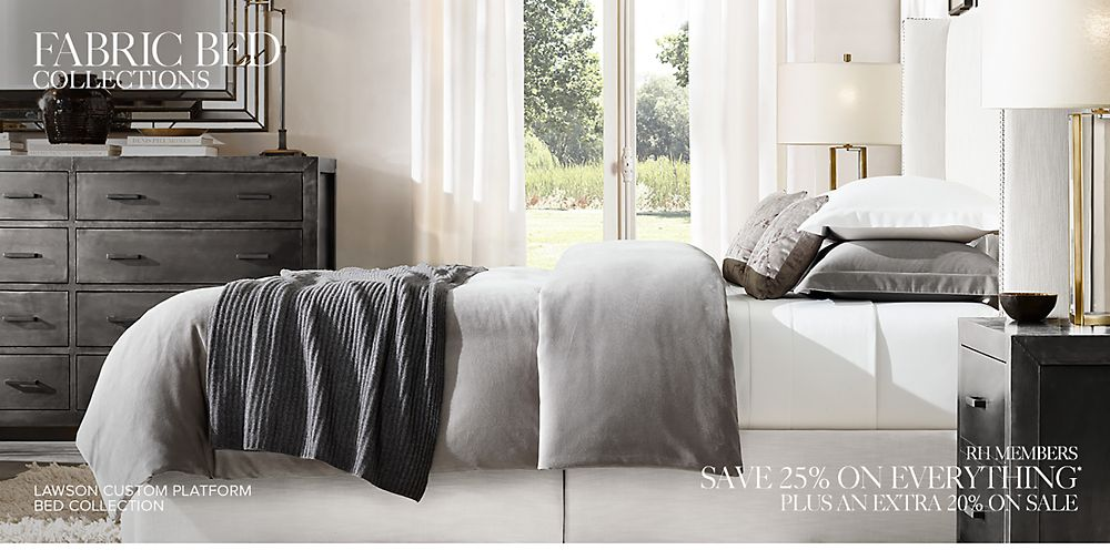 Shop Our Custom Fabric Bed Collections