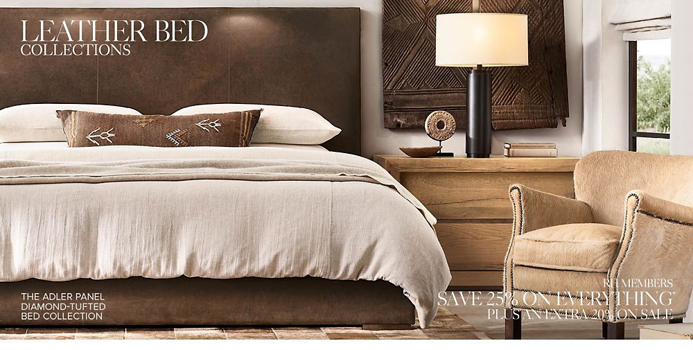 Shop Our Custom Leather Bed Collections