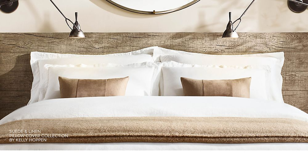 Introducing the Suede and Linen Pillow Collection by Kelly Hoppen