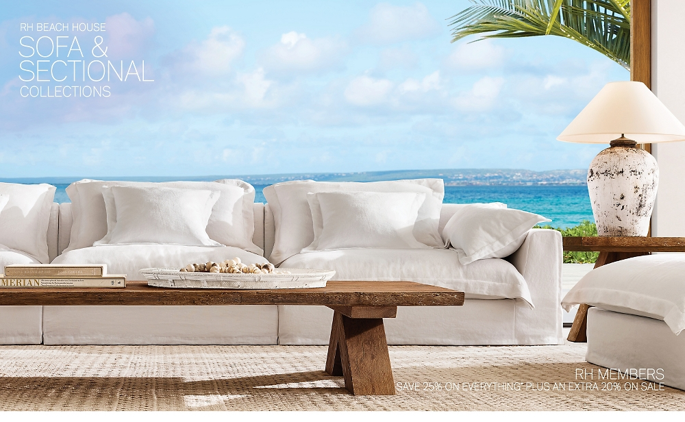Shop RH Beach House Sofas & Sectionals