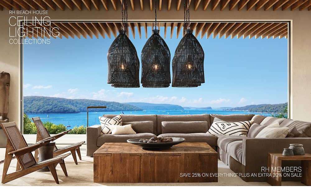 Shop RH Beach House Ceiling Lighting