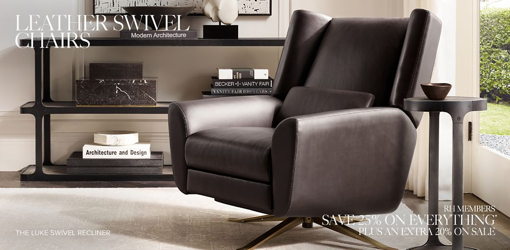 Shop Our Leather Swivel Chair Collections