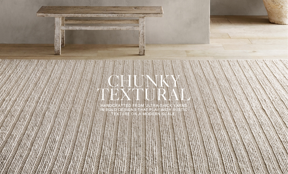 Shop Chunky Textural Rugs