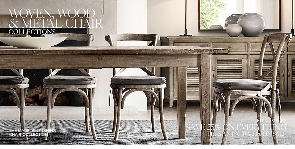 Shop Wood and Metal Dining Chair Collections