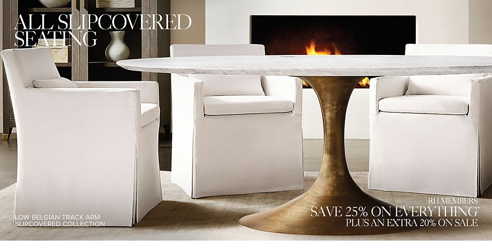 Shop All Slipcovered Seating